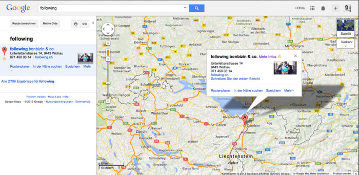 following-google-local-map